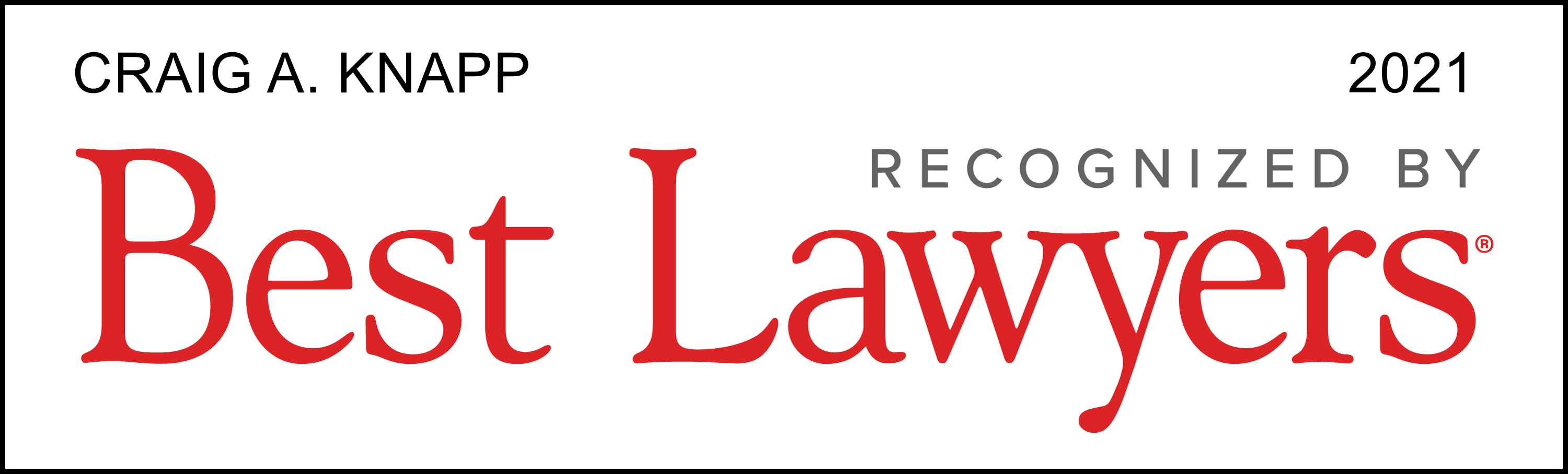 Recognized by Best Lawyers 2021